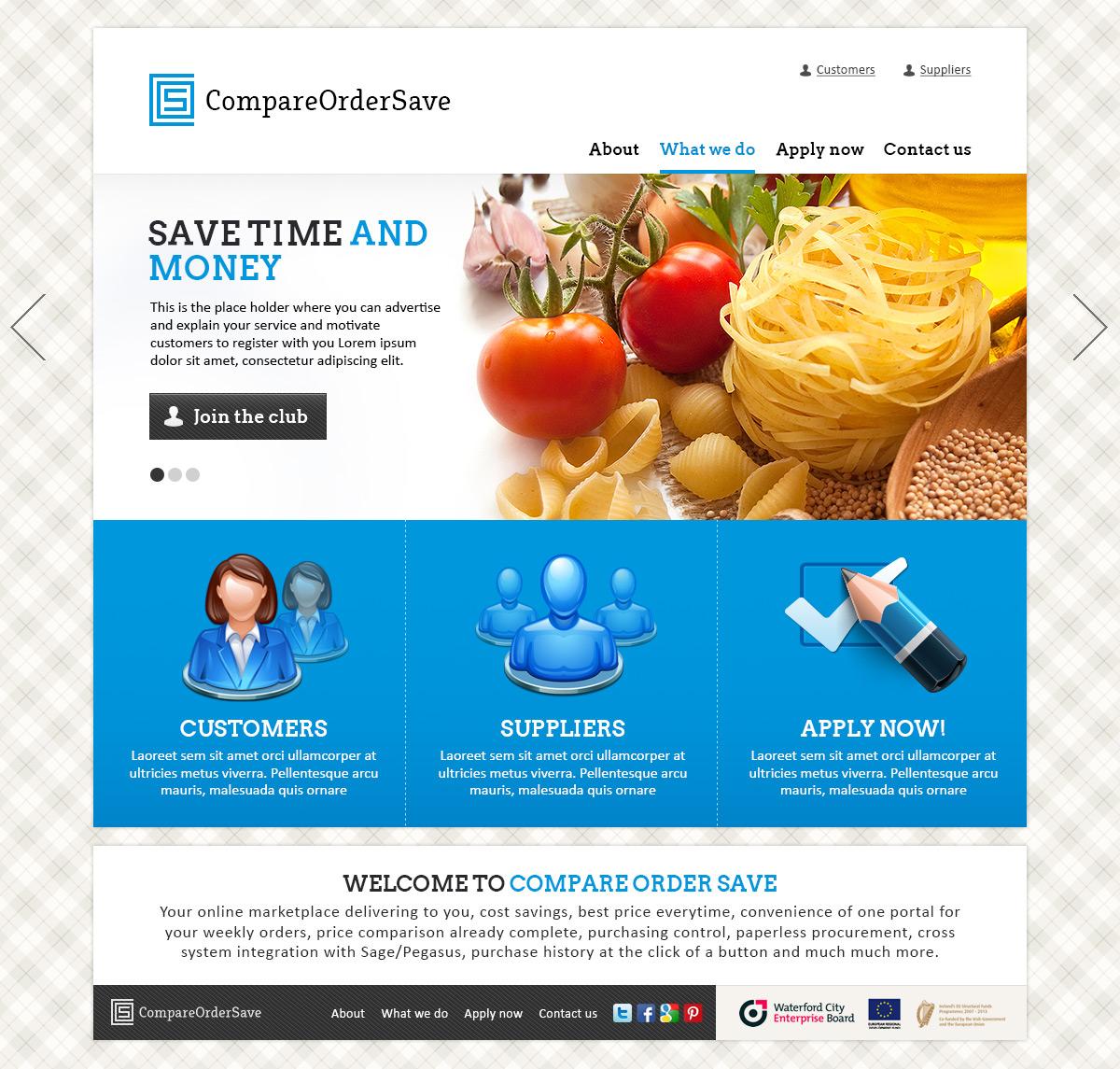 Верстка сайта CompareOrderSave
