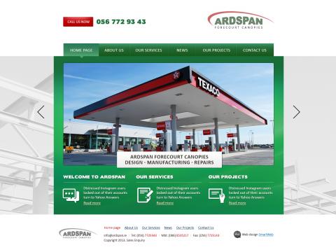Верстка сайта Ardspan