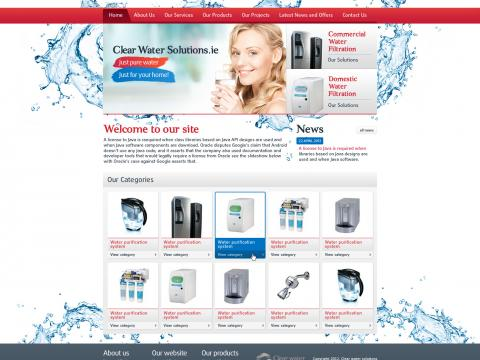 Верстка сайта Clear Water solutions